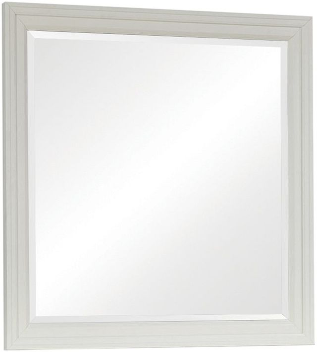 Coaster® Sandy Beach White Dresser Mirror-201304