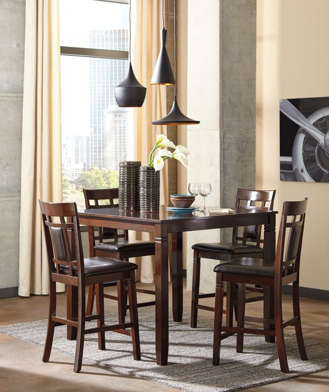 Signature Design by Ashley® Bennox 5-Piece Brown Counter-Height Dining Set-D384-223