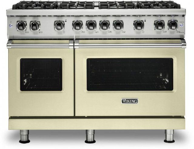 "Viking® 5 Series 48"" Vanilla Cream Pro Style Liquid Propane Gas Range-VGR5488BVCLP"