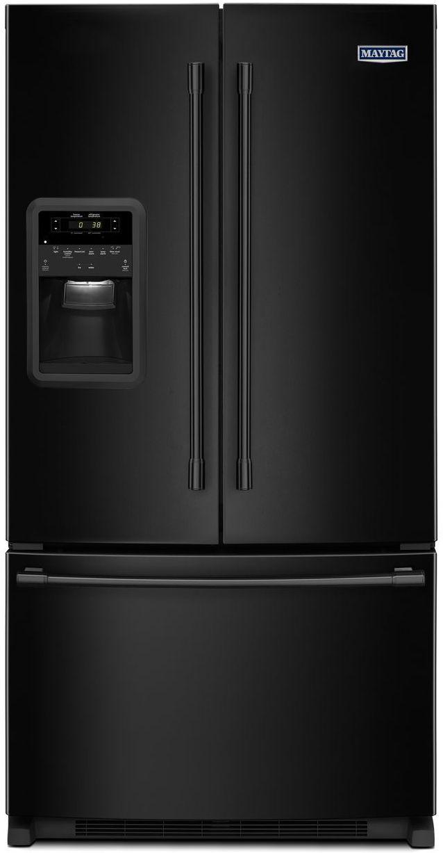 Maytag® 21.71 Cu. Ft. Black French Door Refrigerator-MFI2269FRB