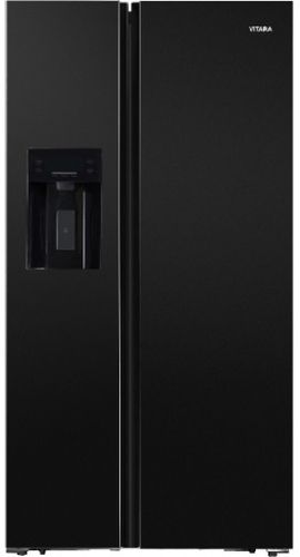 Vitara 19.6 Cu. Ft. Black Counter Depth Side-by-Side Refrigerator-VSBS2001EB