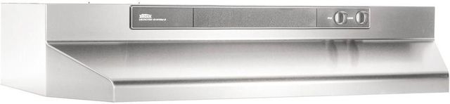 """Broan® 46000 Series 24"""" Stainless Steel Under Cabinet Range Hood-462404"""