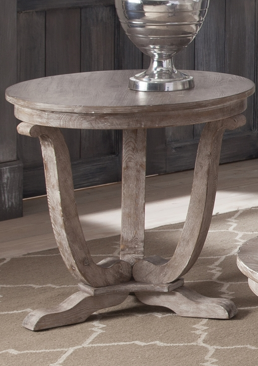 Liberty Furniture Greystone White-Washed Mill End Table-154-OT1020