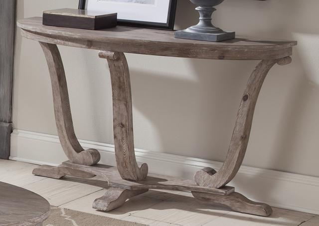 Liberty Furniture Greystone White-Washed Mill Sofa Table-154-OT1030
