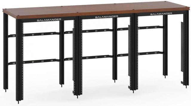 Salamander Designs® Synergy Triple 30 Extension Rack-Dark Cherry/Black-SLX30RMC/B