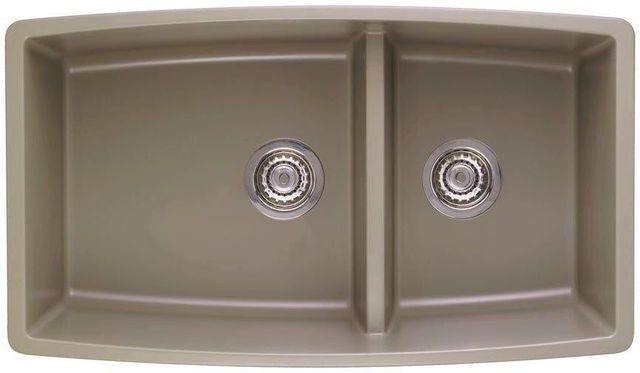 Blanco Performa Truffle 33 Silgranit Granite Composite Undermount Double Bowl Kitchen Sink With 60 40 Split 441315 Bsc Culinary