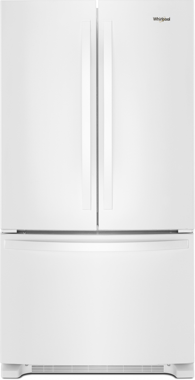 Whirlpool® 25 Cu. Ft. Wide French Door Refrigerator-White-WRF535SMHW