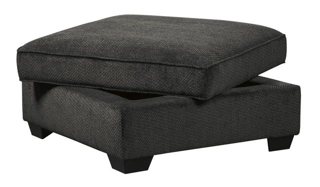 Benchcraft® Charenton Charcoal Ottoman With Storage-1410111