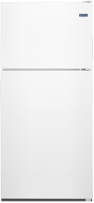 Maytag® 20.51 Cu. Ft. White Top Freezer Refrigerator-MRT311FFFH