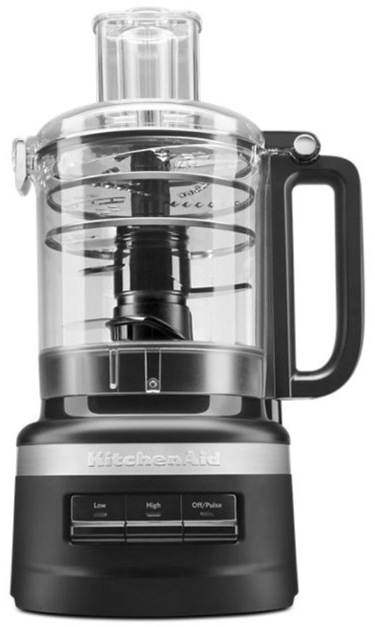 KitchenAid® 9 Cup Black Matte Food Processor Plus-KFP0919BM