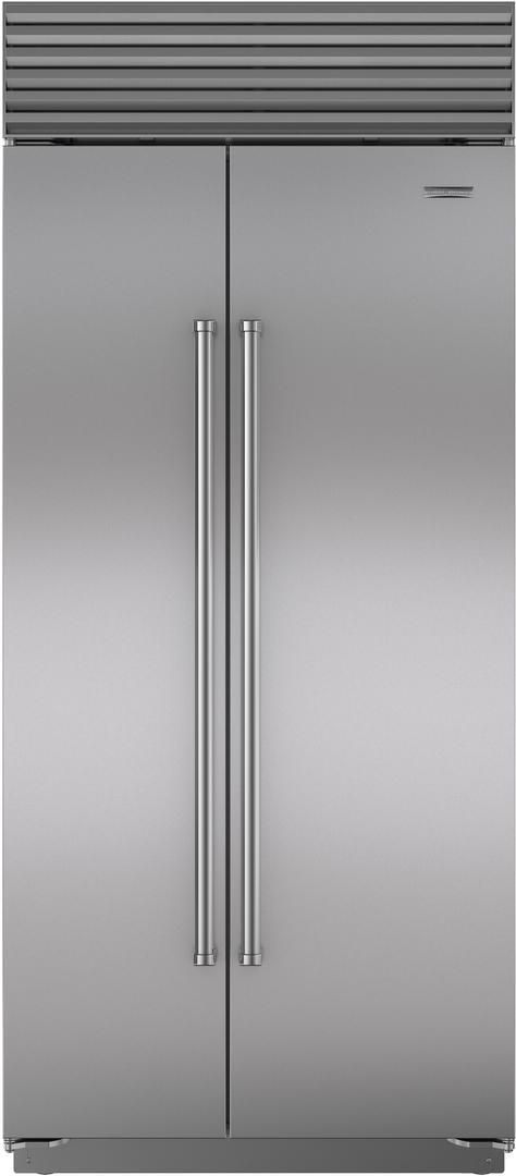 Sub-Zero® 20.6 Cu. Ft. Stainless Steel Built In Side By Side Refrigerator-BI-36S/S/PH