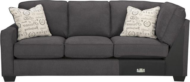 Signature Design by Ashley® Alenya Charcoal Left Arm Facing Sofa-1660166