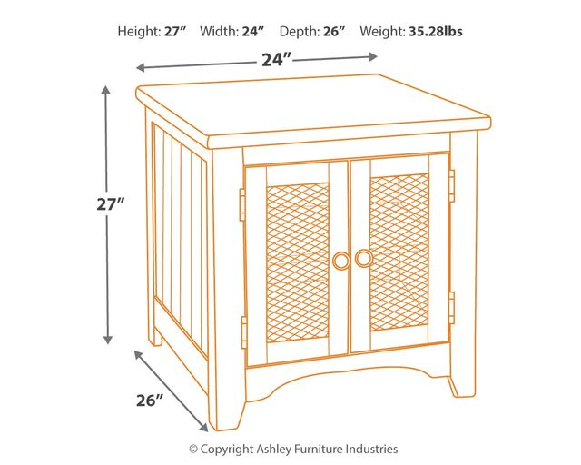 Signature Design By Ashley Wystfield White Brown Rectangular End Table T459 3 Colder S Milwaukee Area
