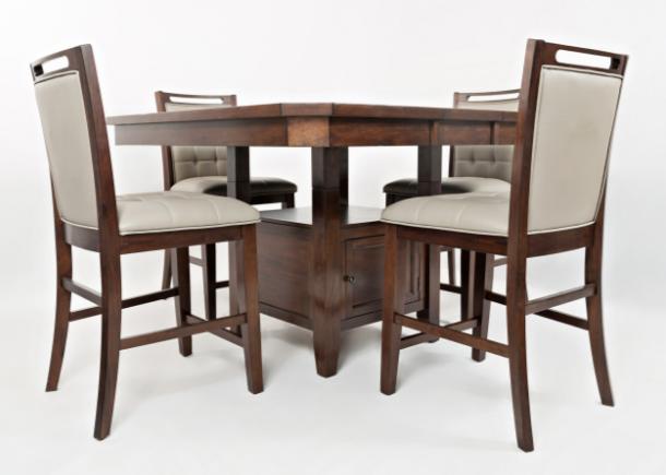Jofran Inc. Manchester Counter Height Dining Set-1672-54TBKT-4xBS385KD