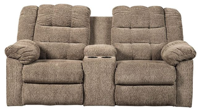 Signature Design by Ashley® Workhorse DBL Rec Loveseat w/Console-5840194