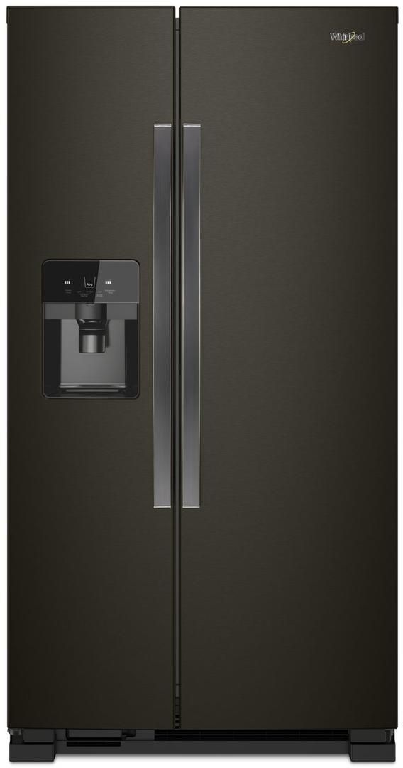 Whirlpool® 21.4 Cu. Ft. Side-by-Side Refrigerator-Black Stainless-WRS321SDHV