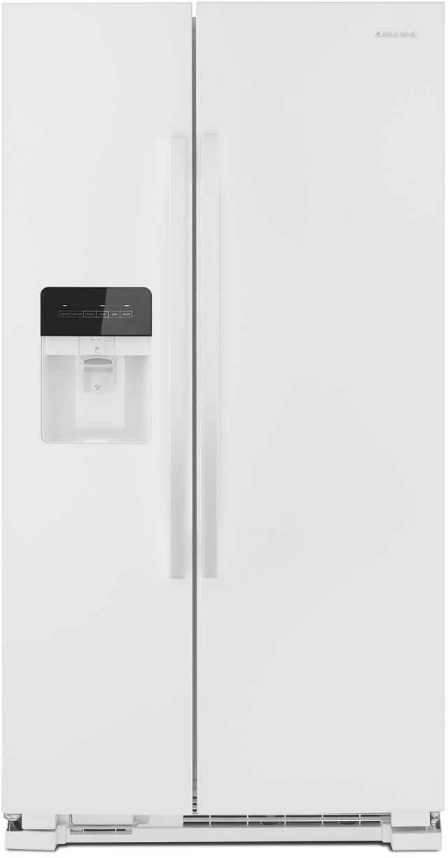 Amana® 21.41 Cu. Ft. White Side-By-Side Refrigerator-ASI2175GRW