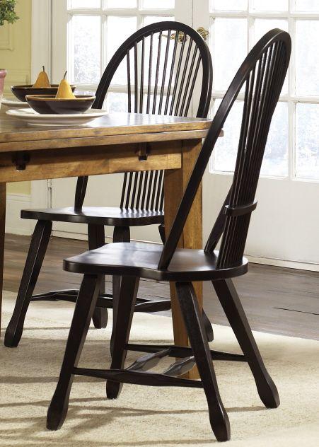 Liberty Furniture Treasures Black Bow Back Side Chair-Black-17-C4032