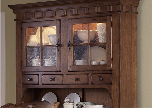 Liberty Furniture Treasures Rustic Oak Bow Back Side Chair-Black-17-CH6285