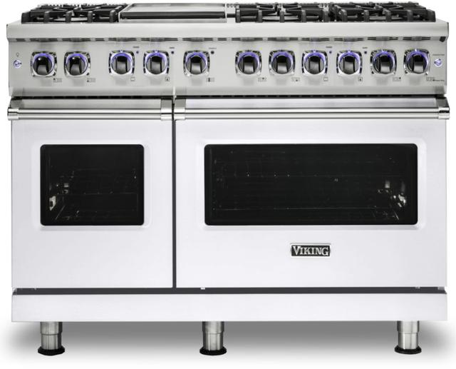 "Viking® 7 Series 48"" White Pro Style Dual Fuel Range-VDR74826GWH"