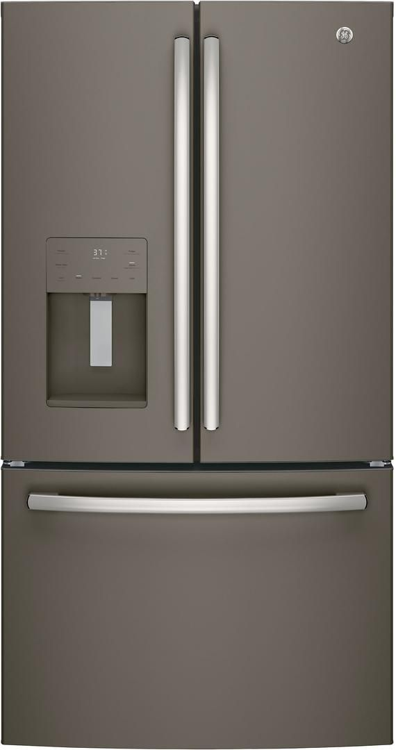 GE® 25.6 Cu. Ft. French Door Refrigerator-Slate-GFE26JMMES