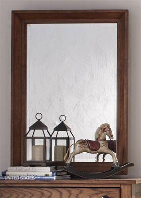 Liberty Furniture Grandpas Cabin Aged Oak Youth  Mirror-175-BR50
