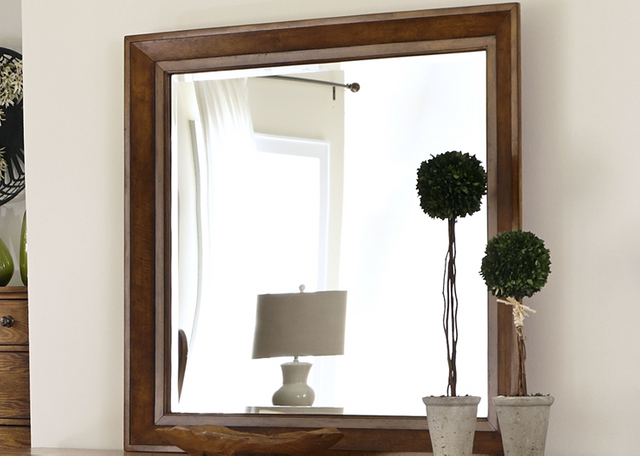 Liberty Furniture Grandpas Cabin Aged Oak Mirror-175-BR51