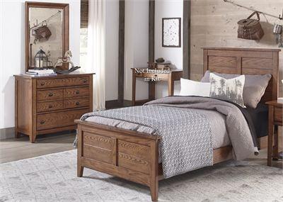 Liberty Furniture Grandpas Cabin 3 Piece Aged Oak Youth Full Bedroom Set-175-YBR-FPBDM
