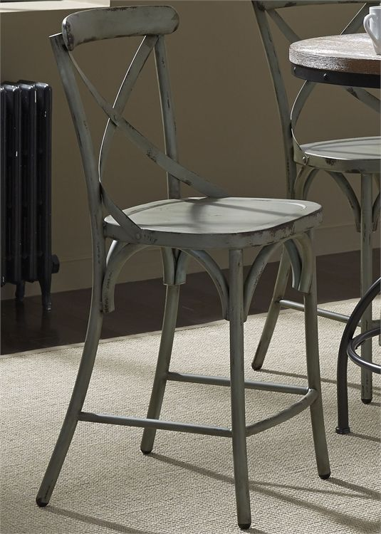 Liberty Vintage Dining Distressed Green Counter Chair-179-B300524-G