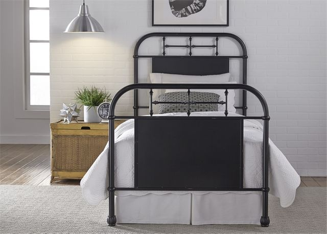 Liberty Vintage Black Youth Bedroom Twin Metal Bed-179-BR11HFR-B