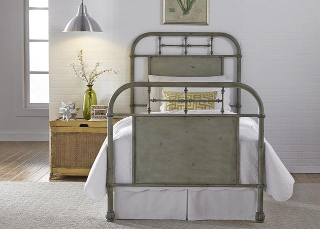 Liberty Vintage Green Youth Bedroom Twin Metal Bed-179-BR11HFR-G