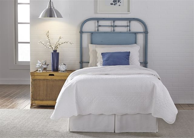Liberty Vintage Blue Youth Bedroom Full Metal Headboard-179-BR17H-BL