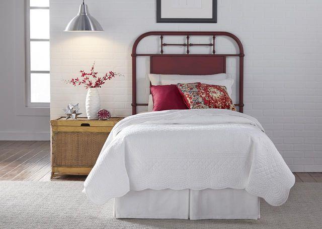 Liberty Vintage Red Youth Bedroom Full Metal Headboard-179-BR17H-R