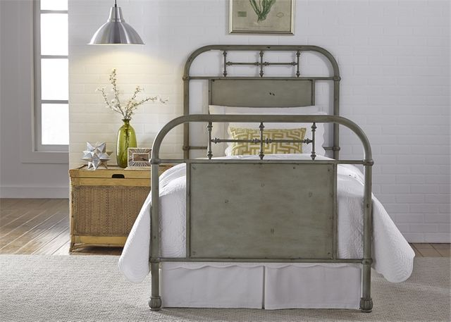 Liberty Vintage Green Youth Bedroom Full Metal Bed-179-BR17HFR-G