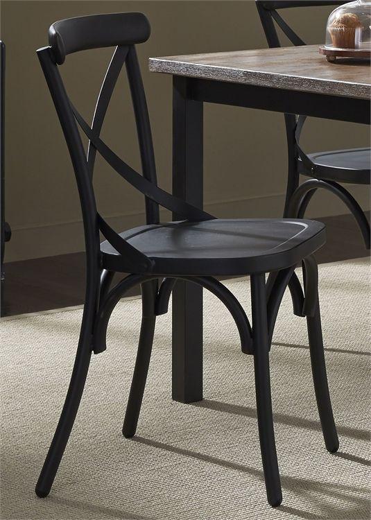 Liberty Vintage Dining Black Side Chair-179-C3005-B