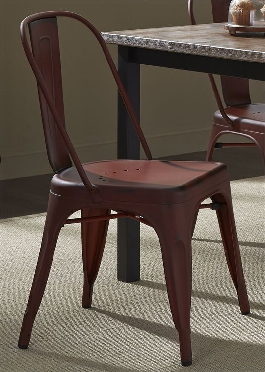 Liberty Vintage Dining Red Side Chair-179-C3505-R