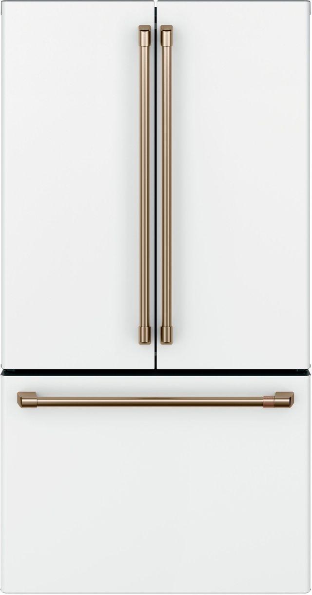Café™ 23.1 Cu. Ft. Matte White Counter Depth French Door Refrigerator-CWE23SP4MW2