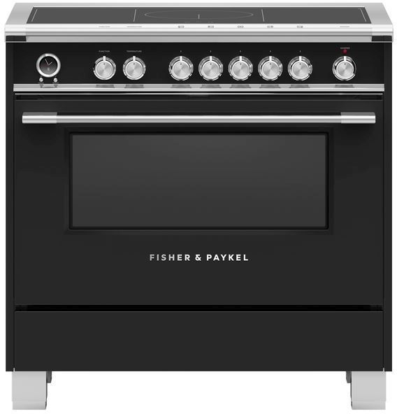 """Fisher & Paykel Series 9 36"""" Black Induction Range-OR36SCI6B1"""