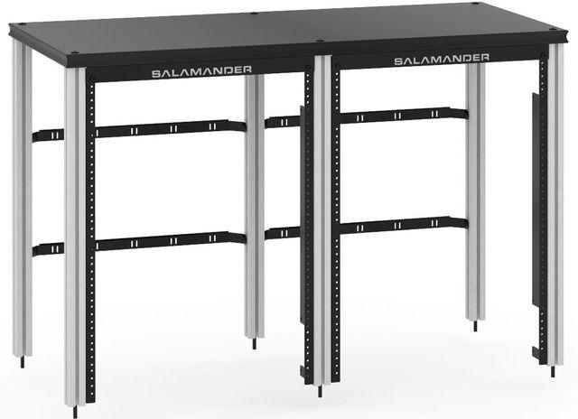 Salamander Designs® Synergy Twin 30 Extension Rack Mount-Black/Aluminum-SNX30RMB/A