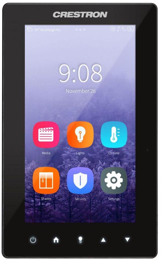 "Crestron® 5"" Portrait Touch Screen-Black Smooth-TSW-560P-B-S"