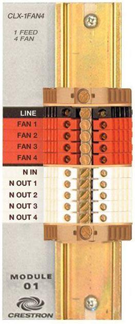 Crestron® Terminal Block-CLT-1FAN4