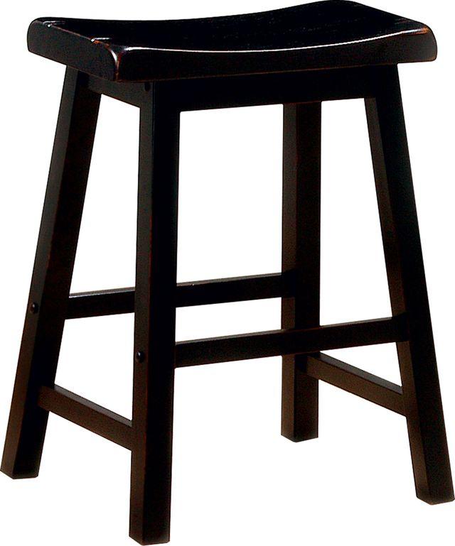 "Coaster® Transitional Black 24"" Counter-Height Bar Stool-180019"