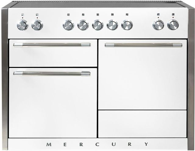 "AGA Mercury 48"" White Electric Induction Range-AMC48IN-WHT"