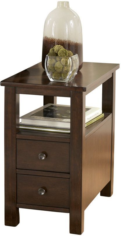 Signature Design by Ashley® Marion Dark Brown Chair Side End Table-T477-7