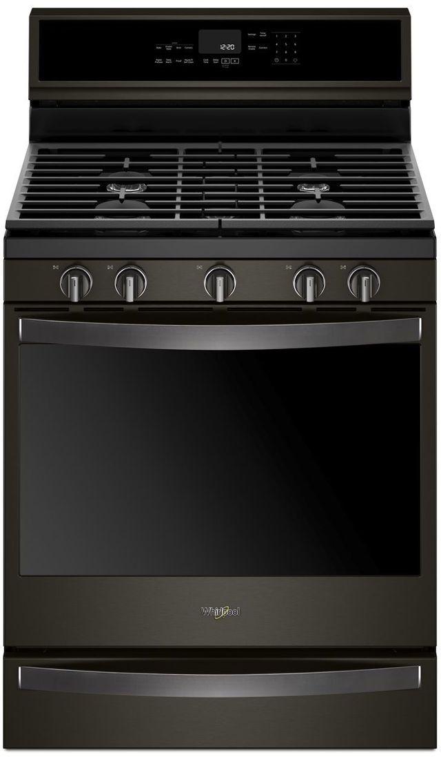 """Whirlpool® 30"""" Freestanding Gas Range-Fingerprint Resistant Black Stainless Steel-WFG975H0HV"""