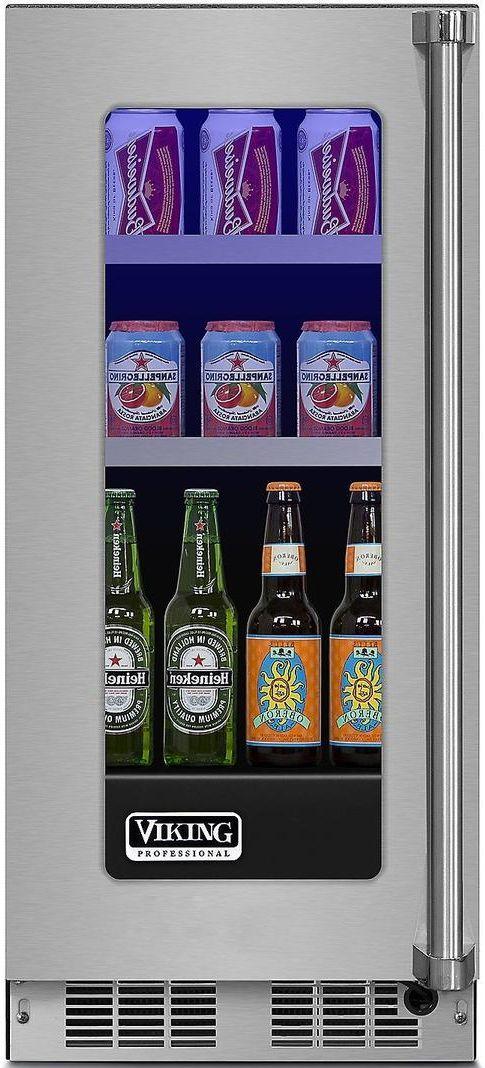 "Viking® Professional 5 Series 14.88"" Stainless Steel Frame Beverage Center-VBUI5150GLSS"