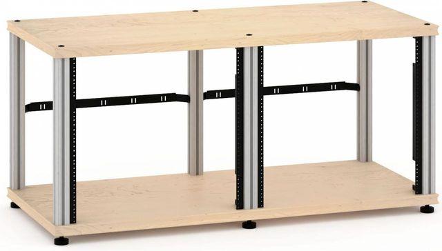 Salamander Designs® Synergy Twin 20 Rack Mount-Natural Maple/Aluminum-SN20RMM/A