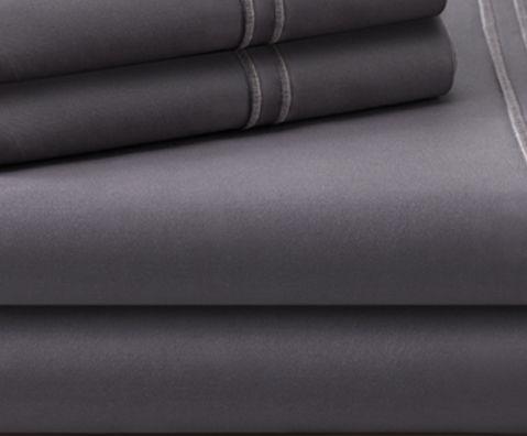 Malouf® Sleep Woven™ Supima® Premium Cotton Charcoal Split California King Sheet Set-MAS6SCCCSS
