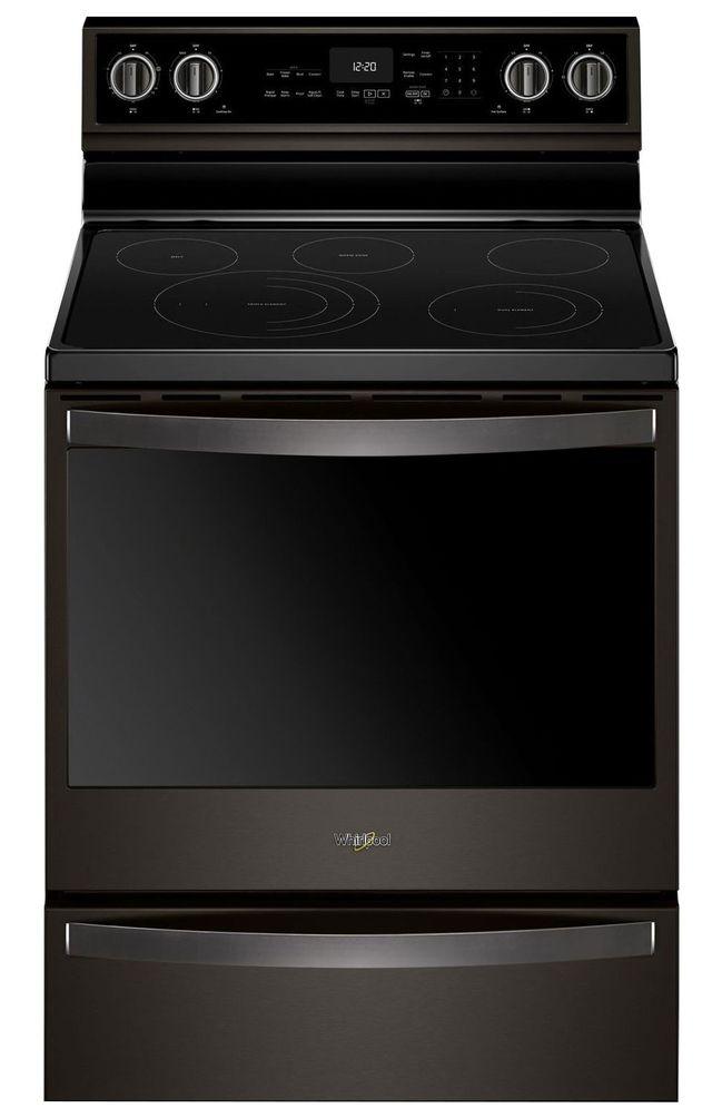 Cuisinière électrique autoportante de 30 po Whirlpool® de 6,4 pi³ - Acier inoxydable noir-YWFE975H0HV