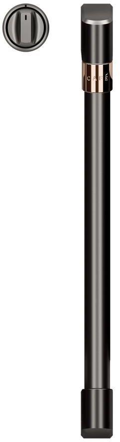 Café™ Brushed Black French Door Handles and Knob Kit-CXWSFHKPMBT